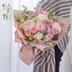 鲜花速递花店同城送花订花七夕向日葵玫瑰花束配送生日礼物